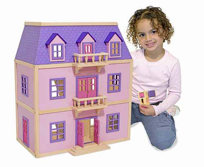 Melissa & Doug Multi-Level Wooden Dollhouse - Click to enlarge