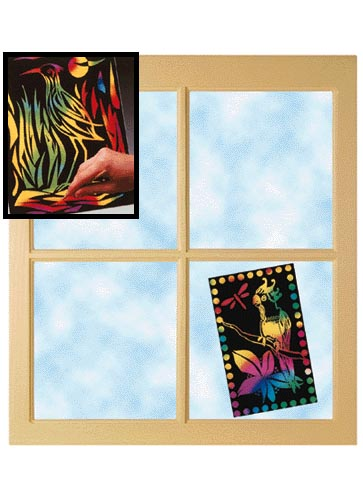 Melissa Amp Doug Scratch Light Stained Glass 30 Sheets