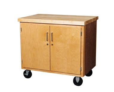 Mobile Storage Cabinet - 2 doors