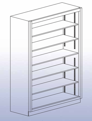 "Open Shelf Storage Unit - 84""H-40"