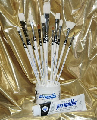 Permalba® Deluxe Oil Brush Set of (12)