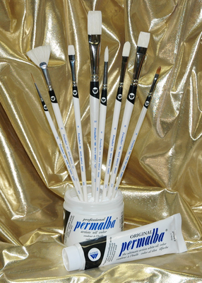 Permalba® Intermediate Oil Brush Set of (8)