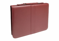 "Prestige� Premier� Burgundy Series Leather Presentation Case 14"" x 17"""
