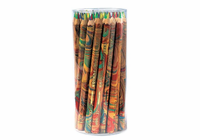 Cretacolor� Quattro Junior Water-Soluble Pencil Display - Tub of 42 pcs (asst. colors - red, yellow, blue, and green leaded pencils)