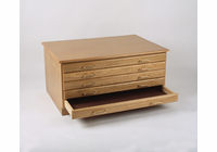 Richeson 15 Drawer Oak Flat File Package w/Cap & Base