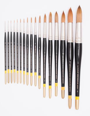 RICHESON 9000 series Sizes 3/0 and 0 round brushes (2 pc.)