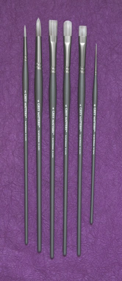 Richeson GREY MATTERS SET of 6 ACRYLIC BRUSHES