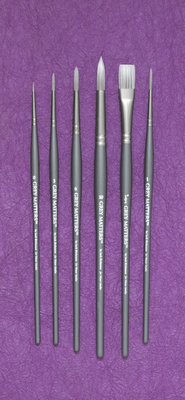 Richeson GREY MATTERS SET of 6 WATERCOLOR BRUSHES