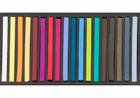 Richeson Semi-Hard Square Pastels - Set of 18