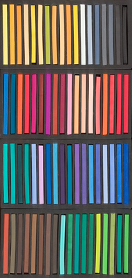 Richeson Semi-Hard Square Pastels - Set of 72