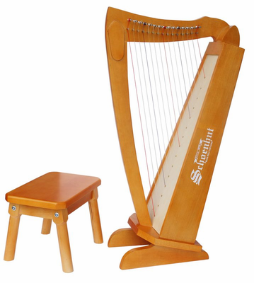 Schoenhut 15�String�Harp�with�bench C1019 - Click to enlarge
