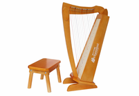 Schoenhut 15 String Harp with bench C1019