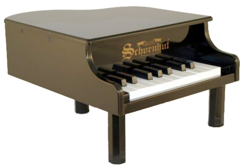 Schoenhut babygrandpianos 18keyminigrand 189 for Smallest baby grand piano dimensions