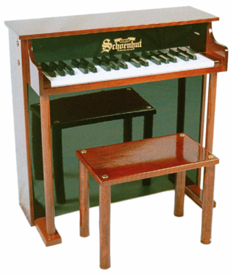 Schoenhut 6637 Upright�Pianos - 37�Key�Traditional�Deluxe�Spin - Click to enlarge