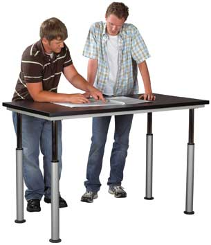 SHAIN SOLUTIONS Adaptable Table w/Laminate Top 60