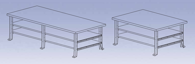 Sheet Metal Bench - metal w/0 plates