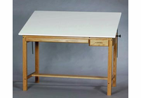 SMI Pacific Series Wood 4 Post Table (One-Piece Top Choice)