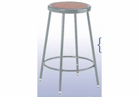 DIVERSIFIED WOODCRAFTS Diversified Woodcrafts HARDBOARD SEAT STEEL STOOL - 18""