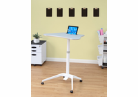 STUDIO DESIGNS / CALICO Cascade Adjustable Height Cart White / Silver