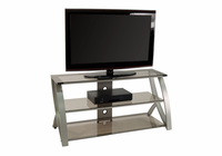 STUDIO DESIGNS / CALICO Futura Advanced TV Stand / Champagne / Bronze Glass