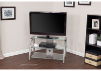 STUDIO DESIGNS / CALICO Stiletto TV Stand / Champagne / Clear Glass