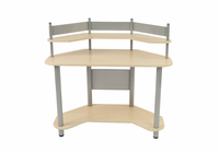 STUDIO DESIGNS / CALICO Study Corner Desk Silver / Maple