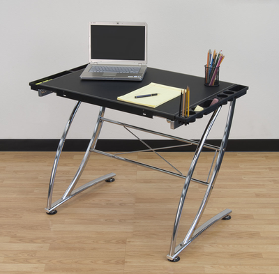 STUDIO DESIGNS Executive Craft Station Chrome / Leather - Click to enlarge