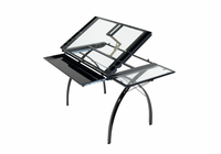 STUDIO DESIGNS Futura Craft Station with Folding Shelf / Black / Clear Glass
