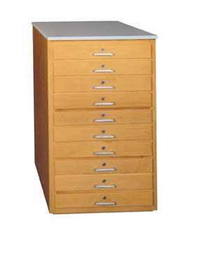 DIVERSIFIED WOODCRAFTS Taboret - 10 drawers