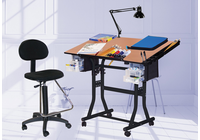 The Creation Station Table Combo Package with Drafting high chair