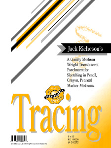 """TRACING PAPER by Jack Richeson and Co. 11"""" x 14"""" - 50 sheets"""