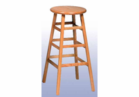 "SHAIN Wood Stool - 30""H"