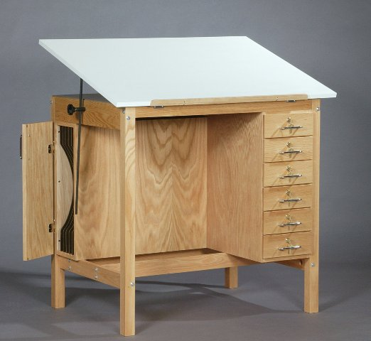 smi wooden drafting table. Black Bedroom Furniture Sets. Home Design Ideas
