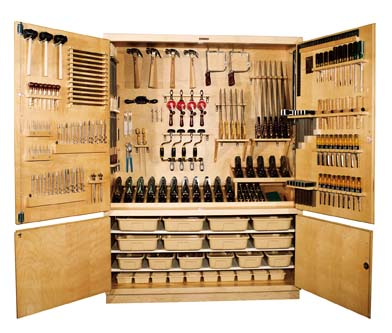 Diversified Woodcrafts Woodworking Tool Storage Cabinet With Tools