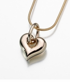 14kt Gold Puff Heart Cremation Jewelry