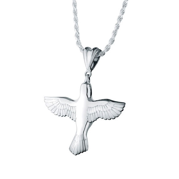 3d dove sterling silver cremation jewelry pendant necklace for ashes mozeypictures Image collections