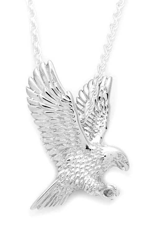3d eagle sterling silver cremation jewelry pendant necklace for ashes mozeypictures Gallery