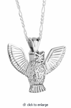 3d owl sterling silver cremation jewelry pendant necklace for ashes 3d owl sterling silver cremation jewelry pendant necklace aloadofball