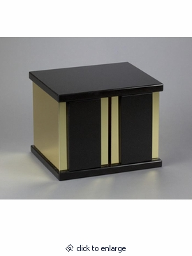 Nero Absoluto aeternitas vii nero absoluto granite companion urn with gold trim