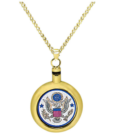 Air force brass cremation jewelry necklace aloadofball Choice Image