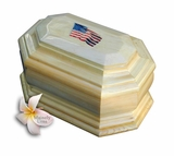 American Flag Cremation Urn in Radiata
