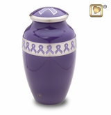 Awareness Purple Ribbon Cremation Urn