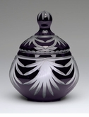 Black and Amethyst Royal Drape Lead Crystal Small Cremation Urn