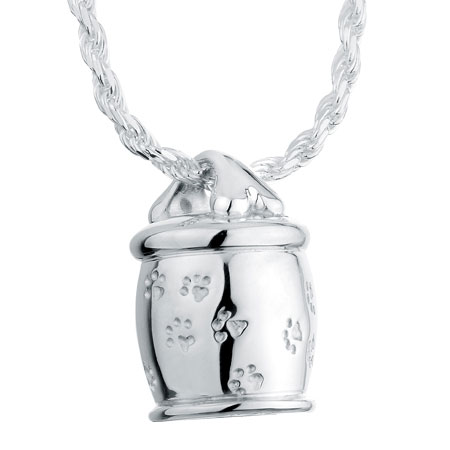 Bone cookie jar sterling silver pet cremation jewelry pendant necklace aloadofball Choice Image