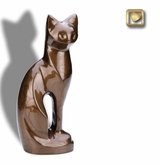 Bronze Cat Pet Cremation Urn