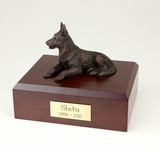 Bronze German Shepherd Dog Figurine Pet Cremation Urn - 431