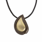 Bronze Tone Tear Drop Memorial Keepsake Cremation Pendant Jewelry