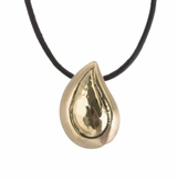 Brushed Brass Tear Drop Memorial Keepsake Cremation Pendant Jewelry