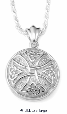Celtic cross round sterling cremation jewelry necklace for ashes celtic cross round sterling silver cremation jewelry pendant necklace aloadofball Gallery