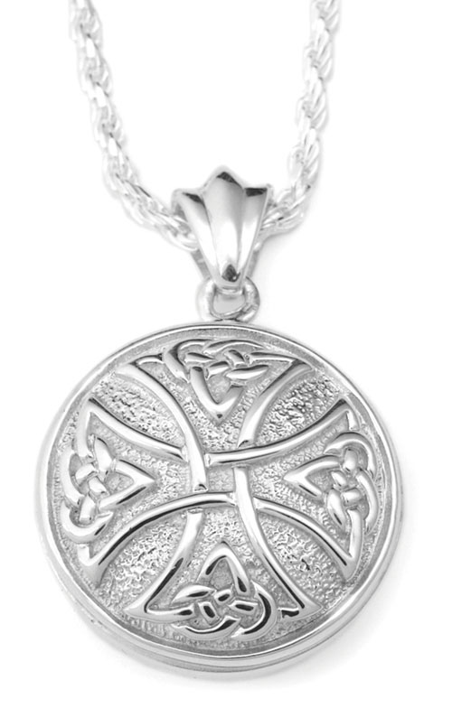 Celtic cross round sterling cremation jewelry necklace for ashes aloadofball Choice Image